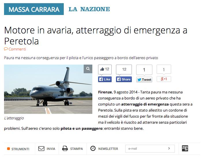 La Nazione Massa Carrara - 9 Agosto 2014