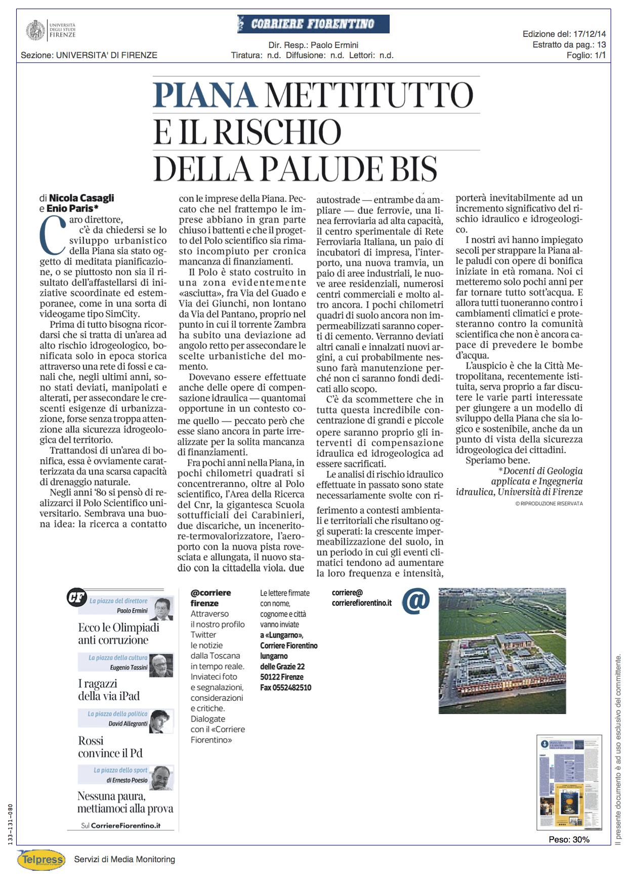Casagli Paris_Corriere Fiorentino